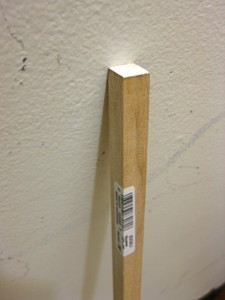 "1/2"" square wooden dowel"