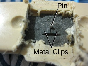 Metal Clips and Pin