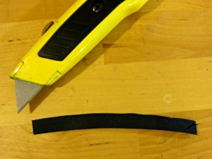 Rubber for belt loop