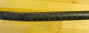 Cut strip of rubber